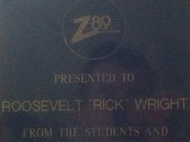 Plaque to Rick Wright