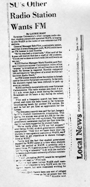1983 Post Standard Article