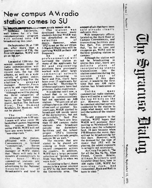 1973 Syracuse Dialogue Article